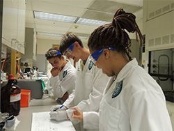Students at Tulane University Emerging Scholars Environmental Health Sciences Academy